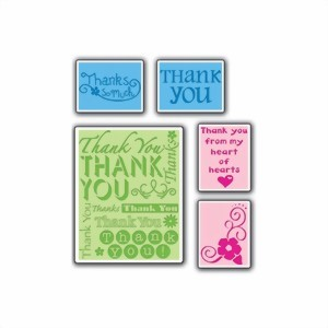 Bild von Sizzix Thank You Set #2 Embossing Schablone
