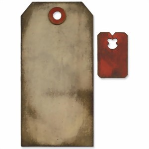 Bild von Tim Holtz Movers & Shapers Base Die Tag & Tie Stanze