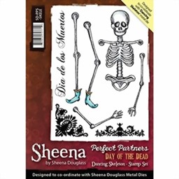 Bild von Sheena Douglass Dancing Skeleton Stempel