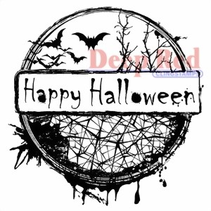 Bild von Deep Red happy Halloweenn Stempel