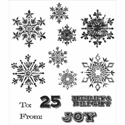Bild von Tim Holtz Cling Stamp Set Weathered Winter Mini