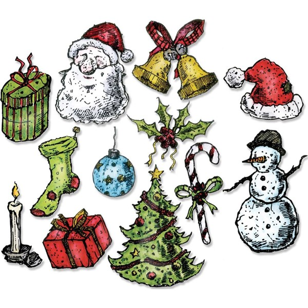 Bild von Sizzix Framelits Stanze By Tim Holtz 12/Pkg Tattered Christmas