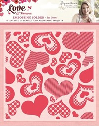 Bild von Crafter's Companion IN LOVE Embossing Schablone