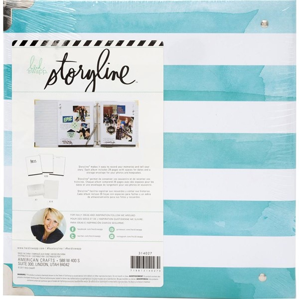 Bild von Heidi Swapp Storyline Album Watercolor Stripe