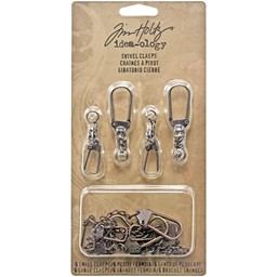 "Bild von Idea-Ology Metal Swivel Clasp W/Chain 2.78"" To 3.75"" 12/Pkg-Antique Nickel, Brass & Copper"