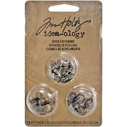 "Bild von Idea-Ology Metal 2-Part Hitch Fasteners .375"" 12/Pkg-Antique Nickel, Brass & Copper"