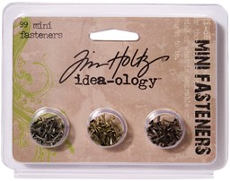 "Bild von Idea-Ology Metal Screw-Top Paper Fasteners .25"" 99/Pkg-Antique Nickel, Brass & Copper"