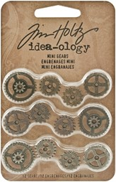 "Bild von Idea-Ology Metal Mini Gears .5"" To .75"" 12/Pkg-Antique Nickel, Brass & Copper"