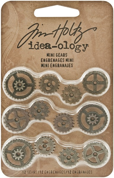 Bild von Idea-Ology Metall Mini-Zahnräder 12/Pkg Antique Nickel, Brass & Copper