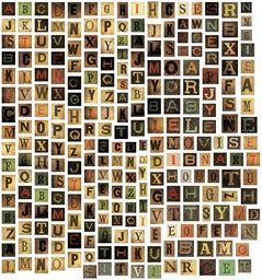Bild von Idea-Ology Chipboard Alpha Tiles 255/Pkg-.6875""