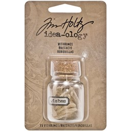 "Bild von Idea-Ology Resin Wishes Glass Corked Jar 2""-Wishbones 1""X.625"", 15pcs"