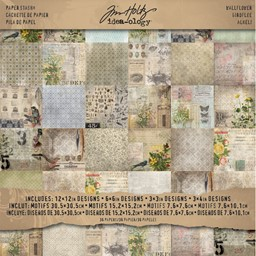 "Bild von Idea-Ology Paper Stash Double-Sided Paper Pad 12""X12"" 36/Pkg-Wallflower"