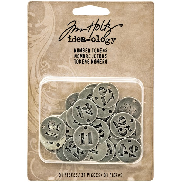 Bild von Idea-Ology Metal Number Tokens 31/Pkg-Antique Silver .75""