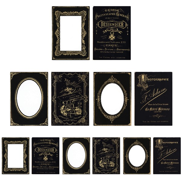 "Bild von Idea-Ology Passepartouts 6/Pkg Black/Gold Holds 4""X6"" & 3""X4"" Photos"