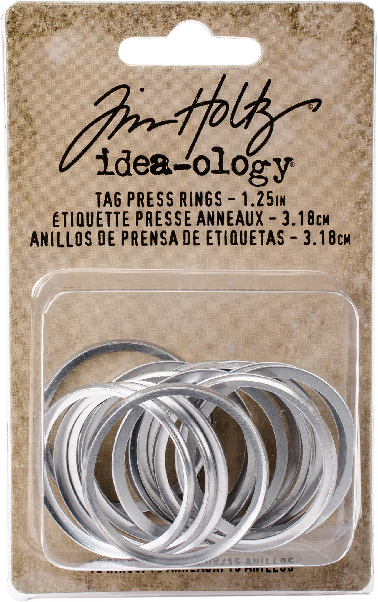 Advantus Tag Press Rings Tim Holtz 1.25 Inch Idea-ology Collection