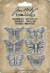 "Bild von Idea-Ology Metal Adornments 1"" 6/Pkg-Butterflies"