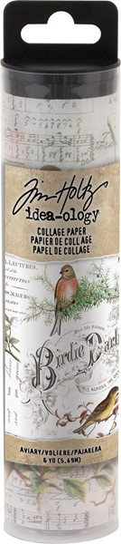 "Bild von Idea-Ology Collage Paper 6""X6yds-Aviary"