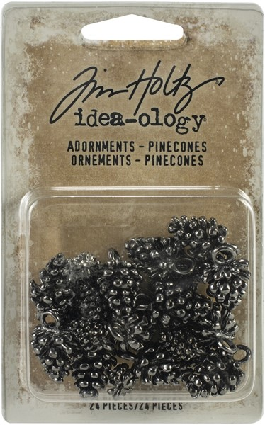 "Bild von Idea-Ology Metallverzierungen .5"" & .75"" 24/Pkg Antique Nickel Pinecones"