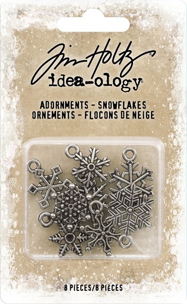 "Bild von Idea-Ology Metallverzierungen .5"" To .625"" 8/Pkg Antique Nickel Snowflakes"