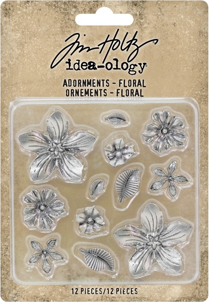Bild von Idea-Ology Metal Adornments 12/Pkg-Floral