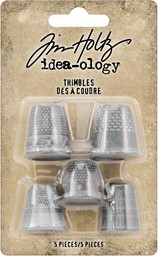 Bild von Idea-Ology Metal Thimbles 5/Pkg-Mixed Sizes
