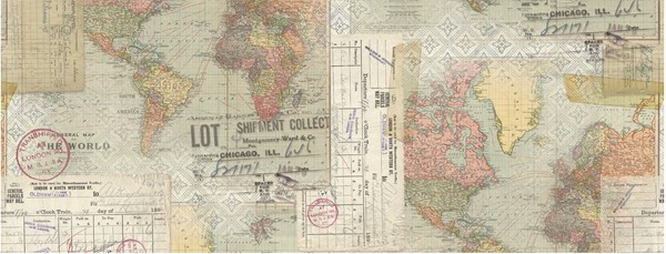 "Bild von Idea-Ology Collage Paper 6""X6yds-Travel"