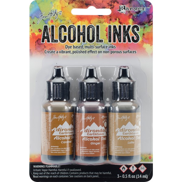 Bild von Tim Holtz Alkoholtinte 14,8ml 3er Set Cabin Cupboard-Caramel/Ginger/Latte