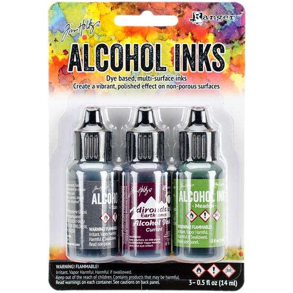 Bild von Tim Holtz Alkoholtinte 14,8ml 3er Set Cottage Path-Slate/Currant/Meadow