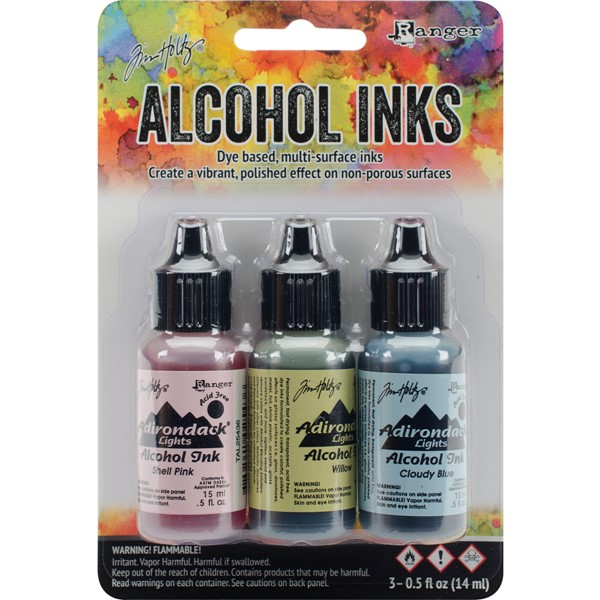 Bild von Tim Holtz Alkoholtinte 14,8ml 3er Set Countryside-Shell Pnk/Willow/Cloudy Blue