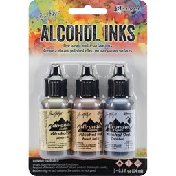 Bild von Tim Holtz Alkoholtinte 14,8ml 3er Set Wildflowers-Lemonade/Peach Bellini/Peri