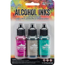 Bild von Tim Holtz Alkoholtinte 14,8ml 3er Set Valley Trail-Raspberry/Pebble/Clover