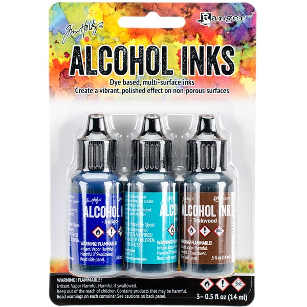 Bild von Tim Holtz Alkoholtinte 14,8ml 3er Set Mariner-Indigo/Mermaid/Teakwood
