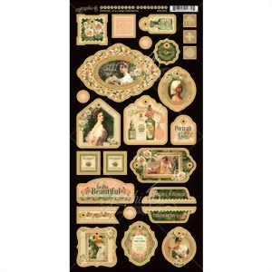Bild von Graphic 45 Chipboards Die-Cuts Stanzteile Portrait Of A Lady Collection - Decorative