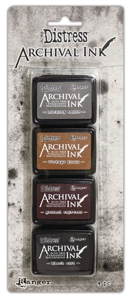 Bild von Tim Holtz Distress Archival Mini Stempelkissen Set Kit 3