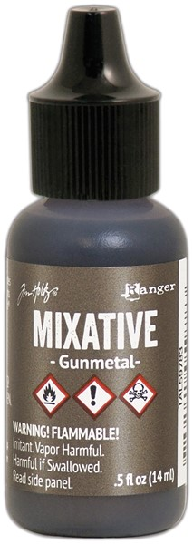 Bild von Tim Holtz Alcohol Ink Metallic Mixatives 14,8ml Gunmetal
