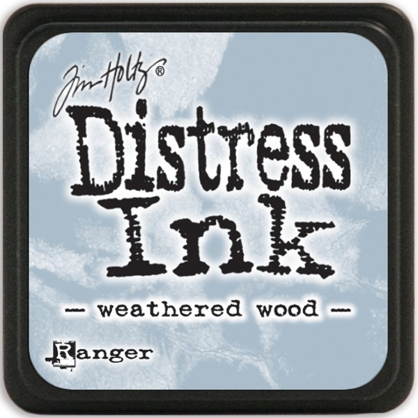 Bild von Tim Holtz Distress Mini Stempelkissen 2,5x2,5cm Weathered Wood