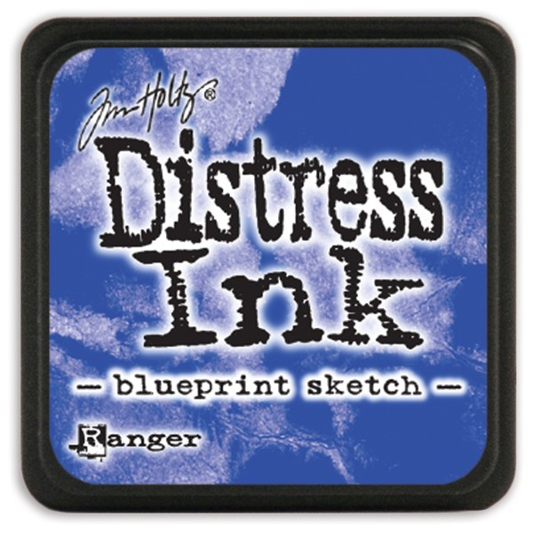 Bild von Tim Holtz Distress Mini Stempelkissen 2,5x2,5cm Blueprint Sketch