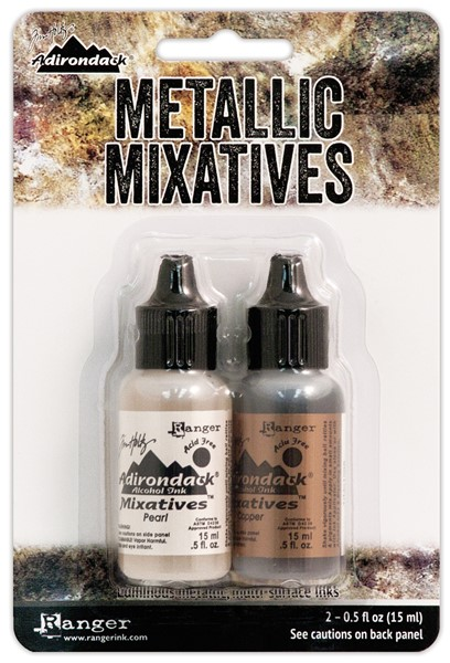 Bild von Tim Holtz Alcohol Ink Metallic Mixatives 14,8ml 2/Pkg Pearl & Copper