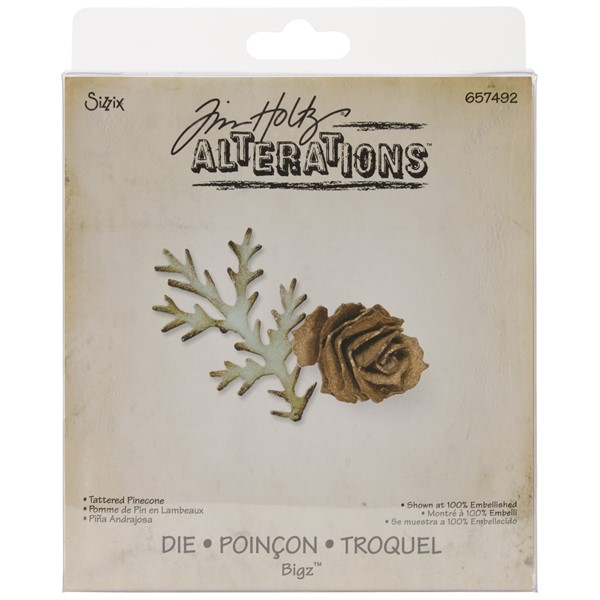 Bild von Sizzix Bigz Stanze by Tim Holtz 14 x 15 cm Tattered Pinecone