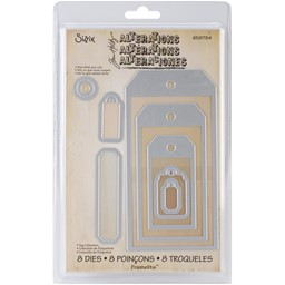 Bild von Sizzix Framelits Dies By Tim Holtz 8/Pkg-Tag Collection
