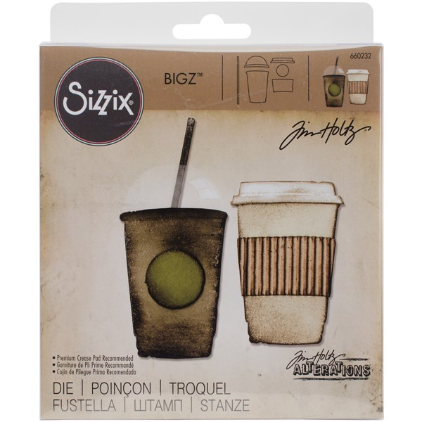 Bild von Sizzix Bigz Stanze by Tim Holtz 14 x 15 cm Fresh Brewed