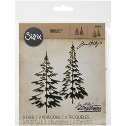 Bild von Sizzix Thinlits Stanze By Tim Holtz 2/Pkg Woodlands