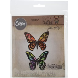Bild von Sizzix Thinlits Dies By Tim Holtz 4/Pkg-Detailed Butterflies
