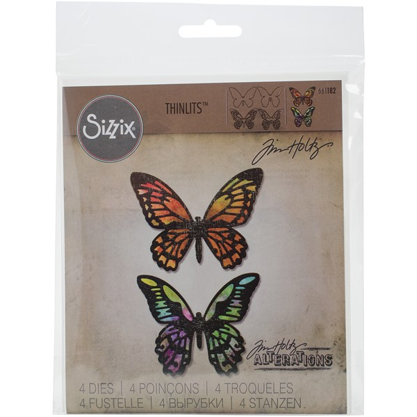 Bild von Sizzix Thinlits Stanze By Tim Holtz 4/Pkg Detailed Butterflies