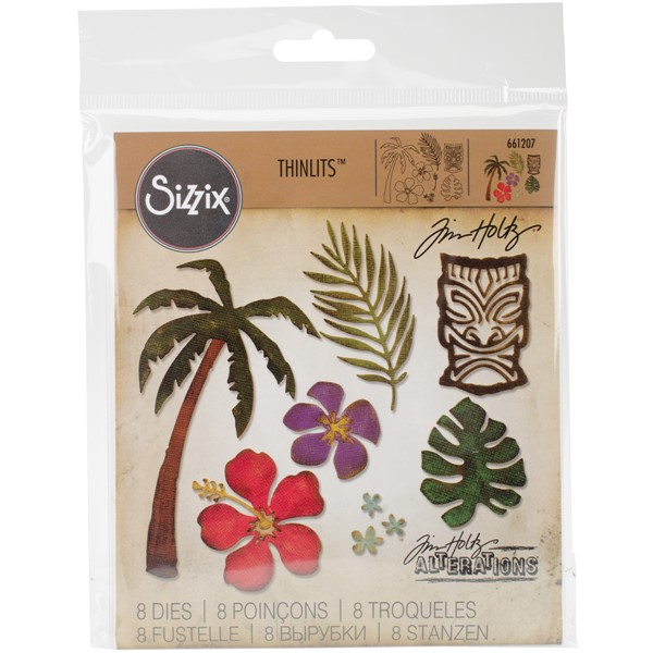 Bild von Sizzix Thinlits Stanze By Tim Holtz 8/Pkg Tropical