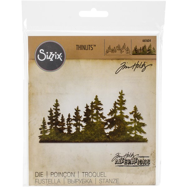 Bild von Sizzix Thinlits Stanze By Tim Holtz Tree Line