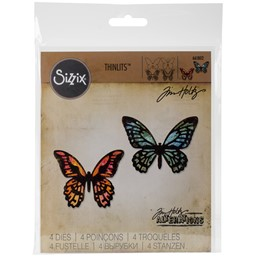 Bild von Sizzix Thinlits Dies By Tim Holtz 4/Pkg-Mini Detailed Butterflies