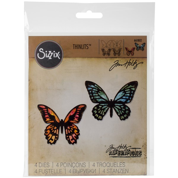 Bild von Sizzix Thinlits Stanze By Tim Holtz 4/Pkg Mini Detailed Butterflies
