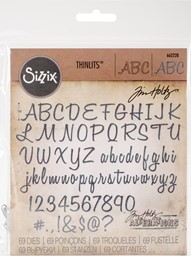 "Bild von Sizzix Thinlits Stanze By Tim Holtz 69/Pkg Alphanumeric Script, 1"" Tall"