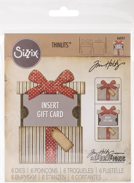 Bild von Sizzix Thinlits Stanze By Tim Holtz 6/Pkg Gift Card Package